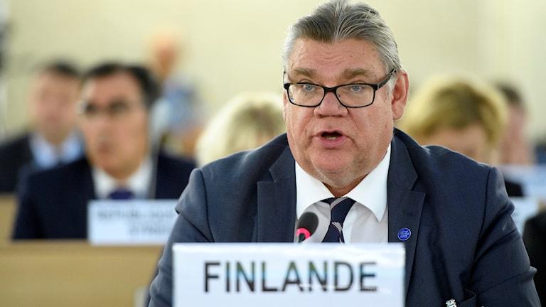Finlands utrikesminister Timo Soini.