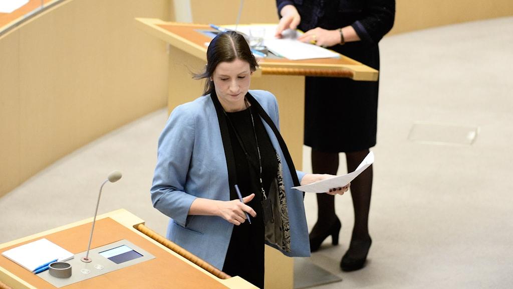 Birgitta Ohlsson (L) i riksdagen. Arkivbild.