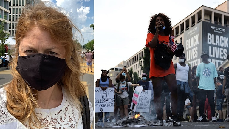 Kajsa Boglind. Demonstrationer i Washington.