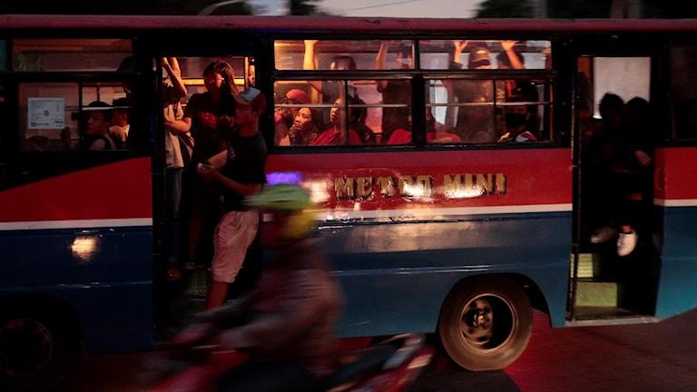 Buss i Indonesien.