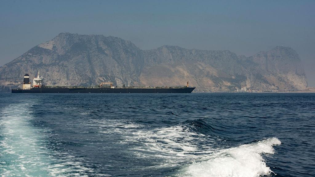 Det iranska tankfartyget som frisläpptes av Gibraltar.