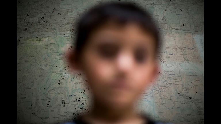 Ett barn från Guatemala.