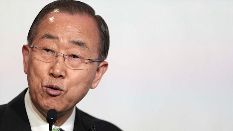 FN:s avgående generalsekreterare Ban Ki-Moon.