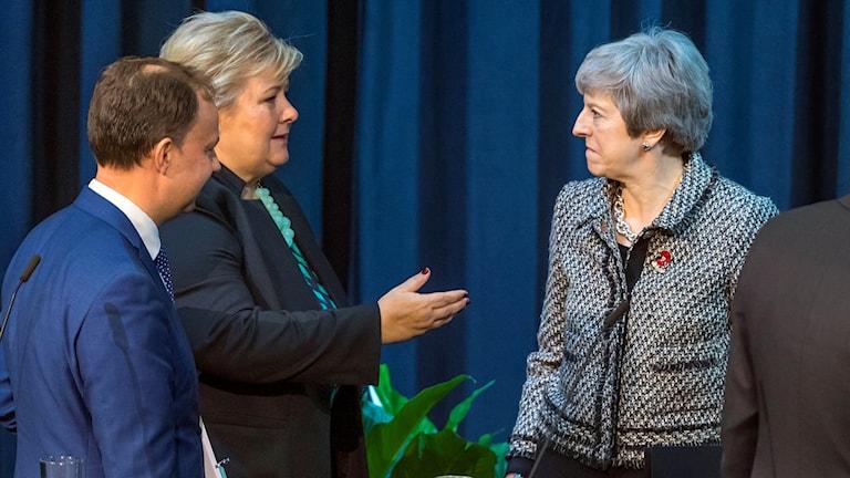 Erna Solberg Theresa May