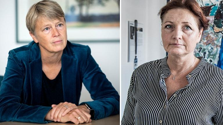 Irene Wennemo, Medlingsinstitutets generaldirektör och Marie Nilsson, förbundsordförande på IF Metall