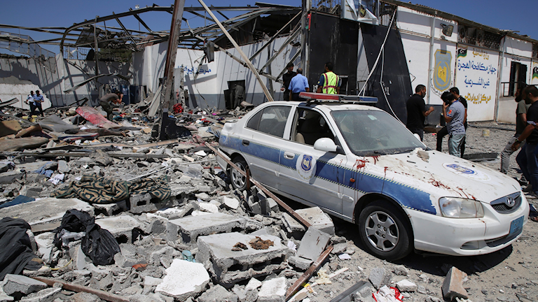 Starka reaktioner efter attack mot läger i Libyen