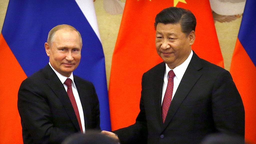 Vladimir Putin och Xi Jingping