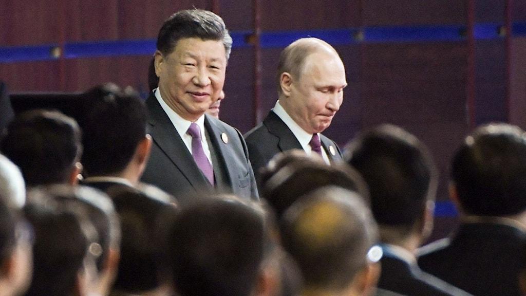 Kinas president Xi Jinping och Rysslands president Vladimir Putin.