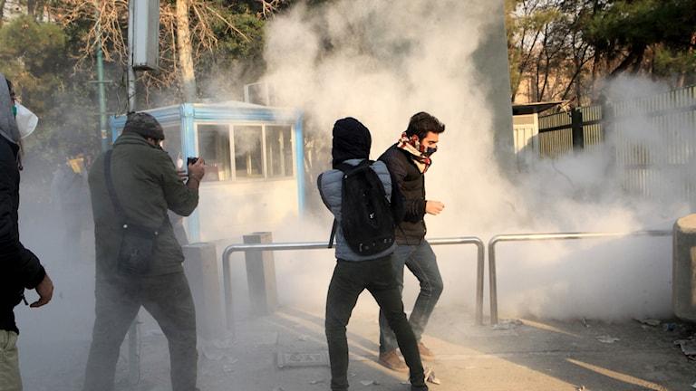 Protester i Iran