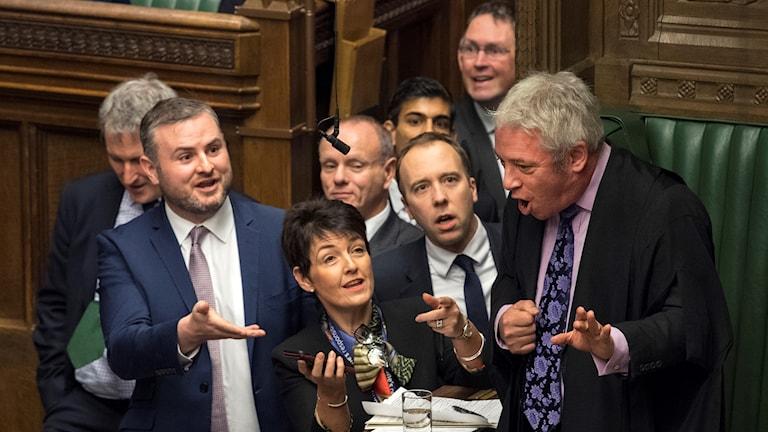 I Storbritannien hamnade den brittiska talmannen i parlamentet i fokus när Brexit debatten inför omröstningen om utträdesavtalet inleddes i dag.