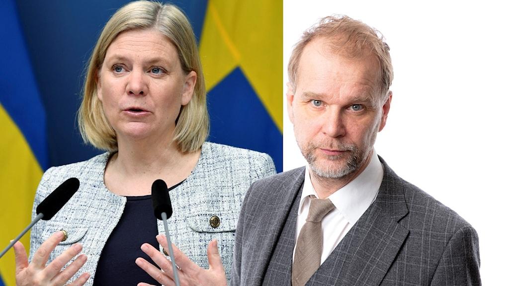 Magdalena Andersson och Kristian Åström.