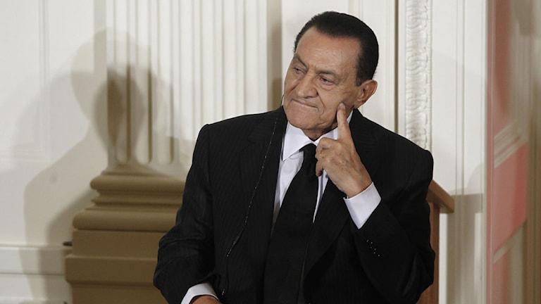 Egyptens förre president Hosni Mubarak. Foto: Charles Dharapak/Scanpix.
