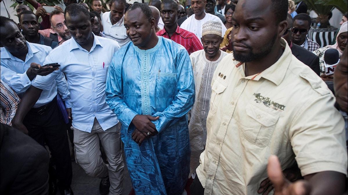 Valvinnaren Adama Barrow (arkivbild). Foto: Sylvain Cherkaoui/TT.