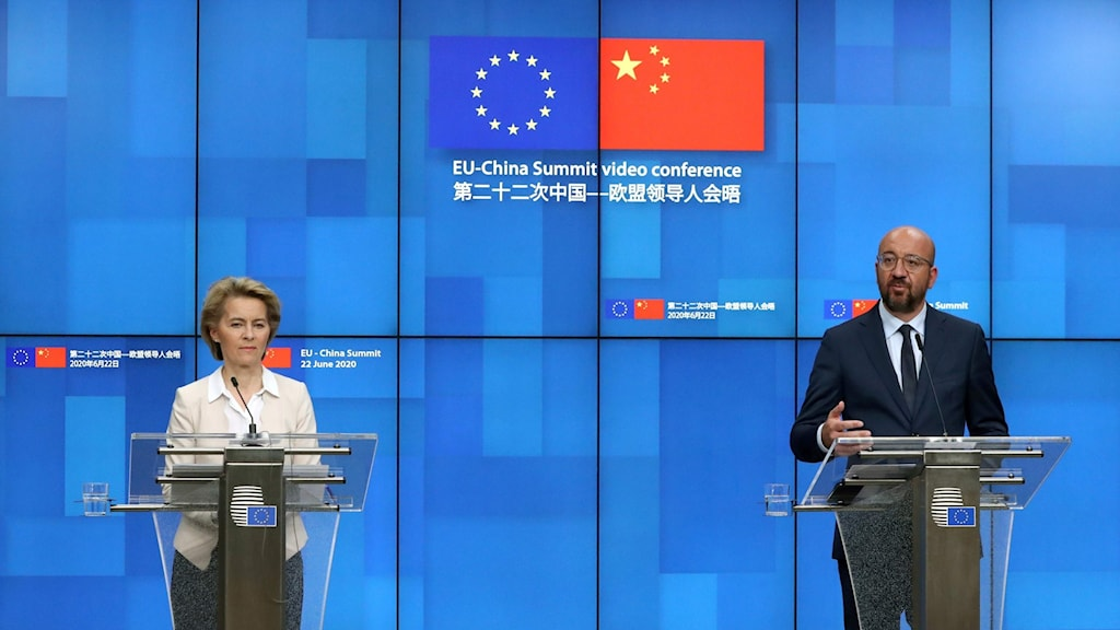 EU-kommissionens ordförande Ursula von der Leyen och Europeiska rådets ordförande Charles Michel
