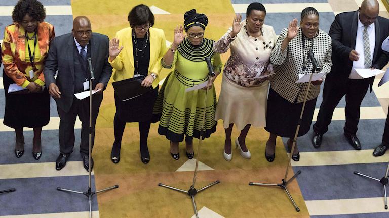 Nya parlamentsledamöter svärs in den 22 maj 2019.Foto: Rodger Bosch/TT.