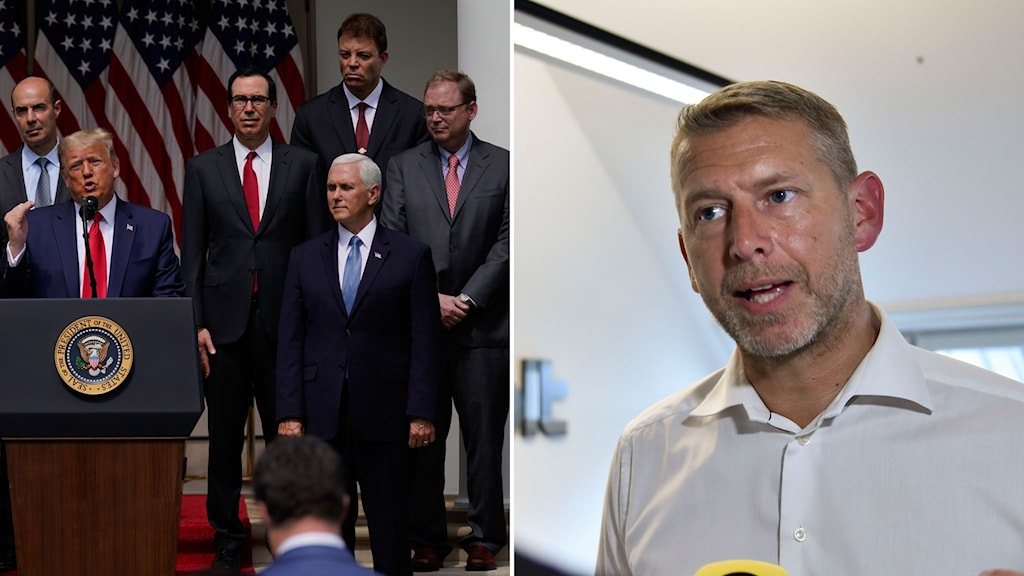 Trumps rådgivare och batteritillverkaren Northvolts vd Peter Carlsson.