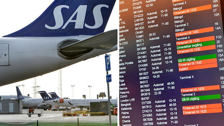 Flygplan och inställda avgångar
