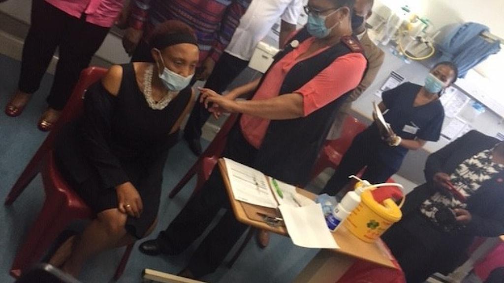 Vaccinering i Sydafrika.