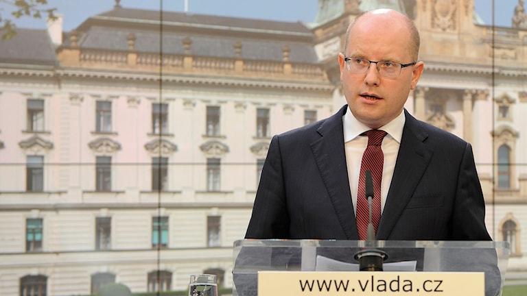 Bohuslav Sobotka, avgående premiärminister Tjeckien