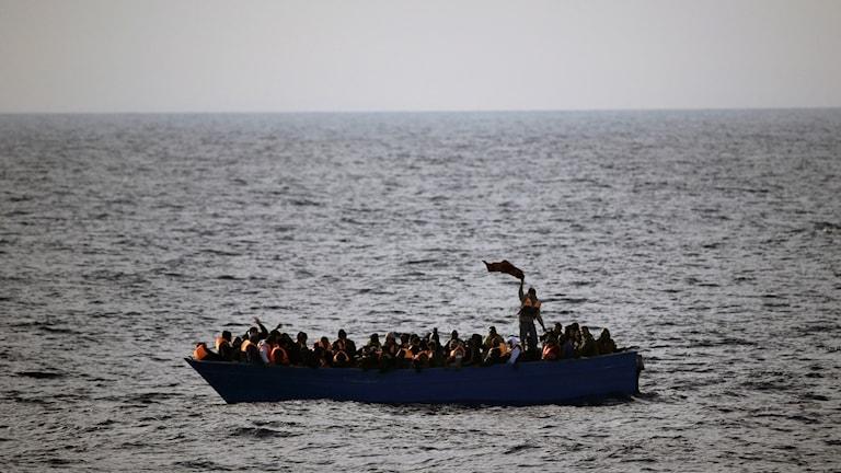 Migrantbåt på Medelhavet