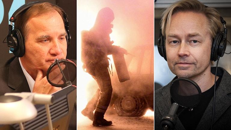 Stefan Löfven visade stor ilska över bränderna.