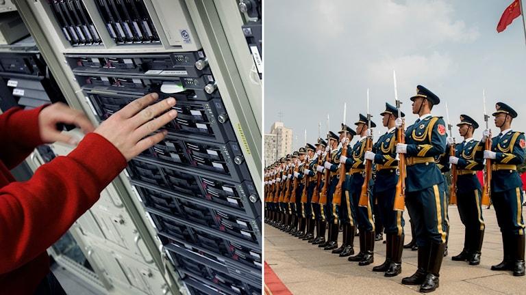 servrar och den kinesiska armén