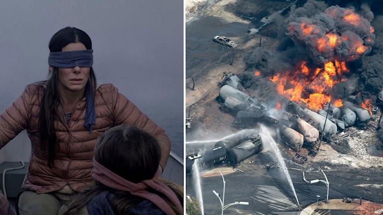Film i blåsväder efter äkta katastrofbilder