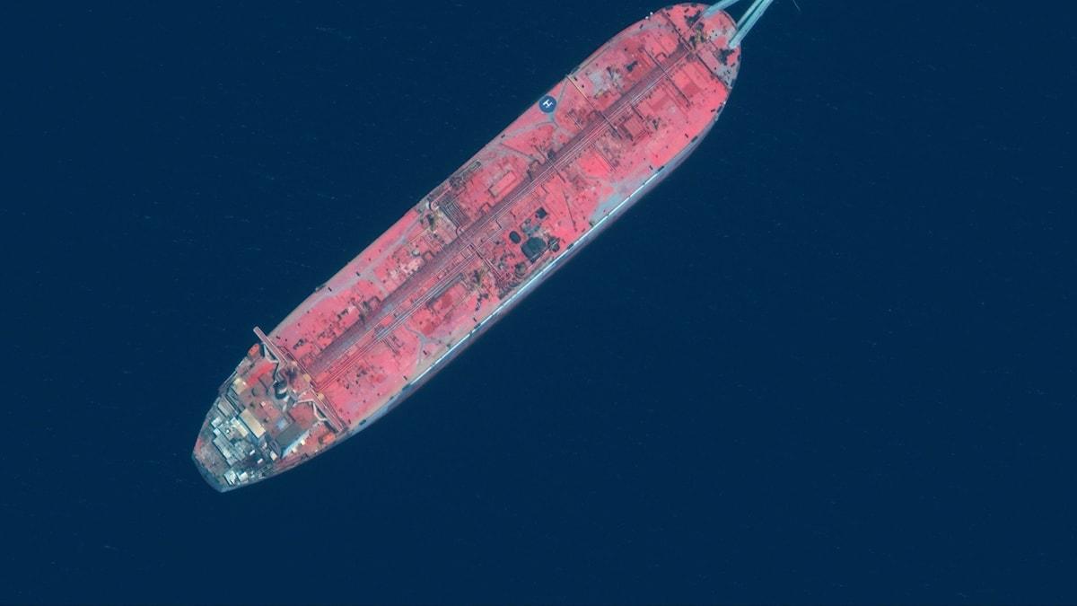 Supertankern FSO Safer i Röda havet.
