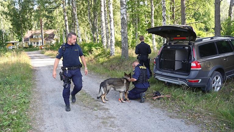Mordmisstänkt flydde fån en transport i närheten av Laxå.