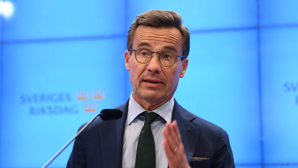 Ulf Kristersson i riksdagen