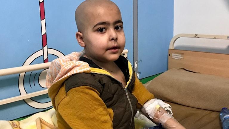 Abdel Hamid Mokkabel, 7, lider av leukemi.