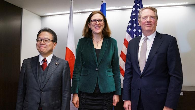 vCecilia Malmström USA:s handelsrepresentant Robert Lighthizer