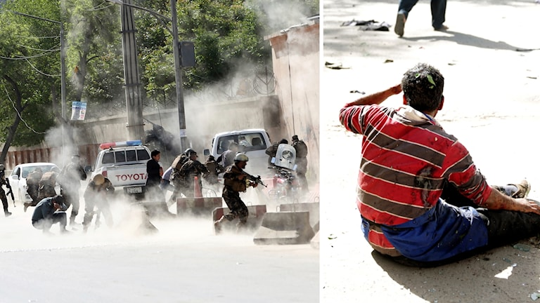 Attackerna utfördes i morgonrusningen i centrala Kabul.