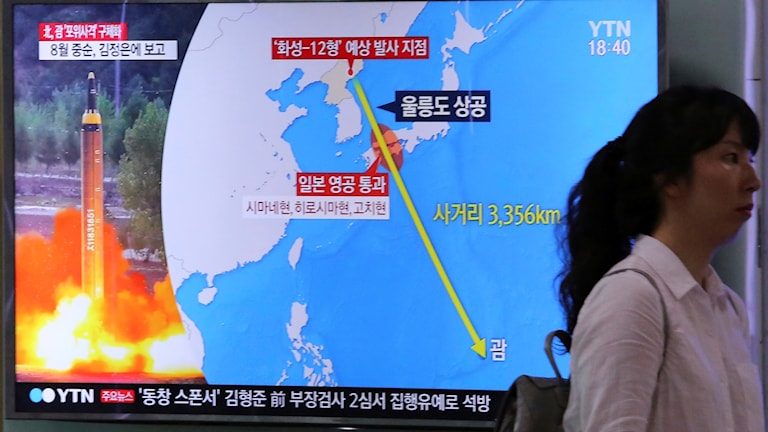 Karta på tv-skärm