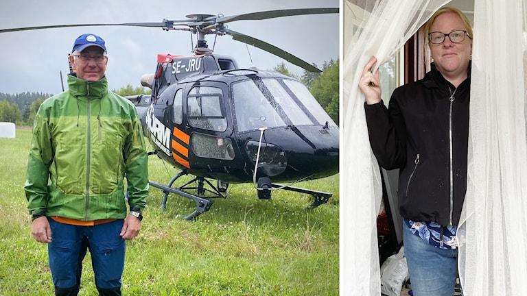 Myggbekämpare Jan Lundström och Dejebon Jenny Hagström. Foto: Jonas Berglund/Sveriges Radio