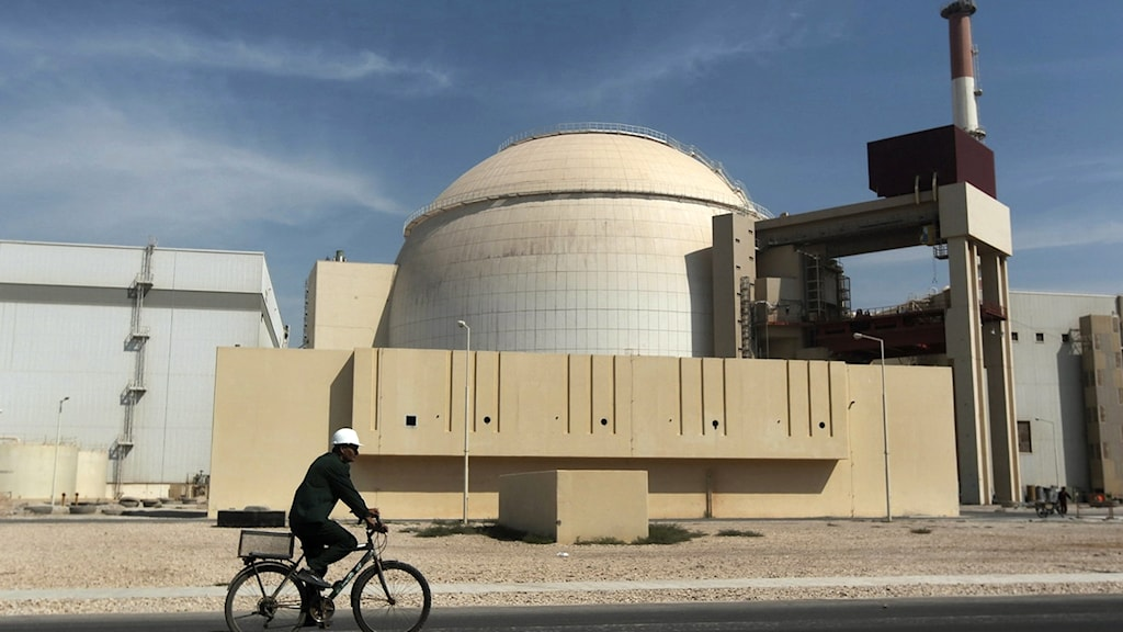 Anläggningen i Bushehr i sydvästra Iran är landets första kärnkraftverk
