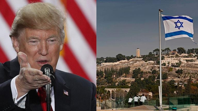 Trump erkänner Jerusalem som Israels huvudstad