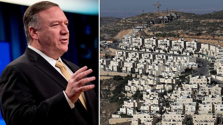 Mike Pompeo och israeliska bosättningar.