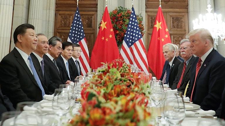 Xi Jinping och Donald Trump.