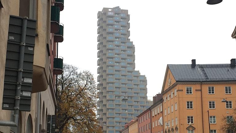 Norra Tornen sett från Torsgatan.