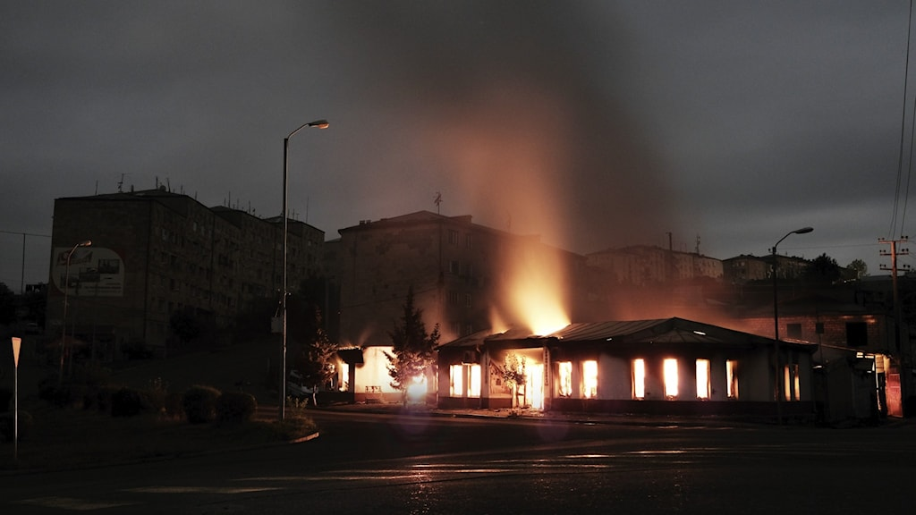 Hus som brinner