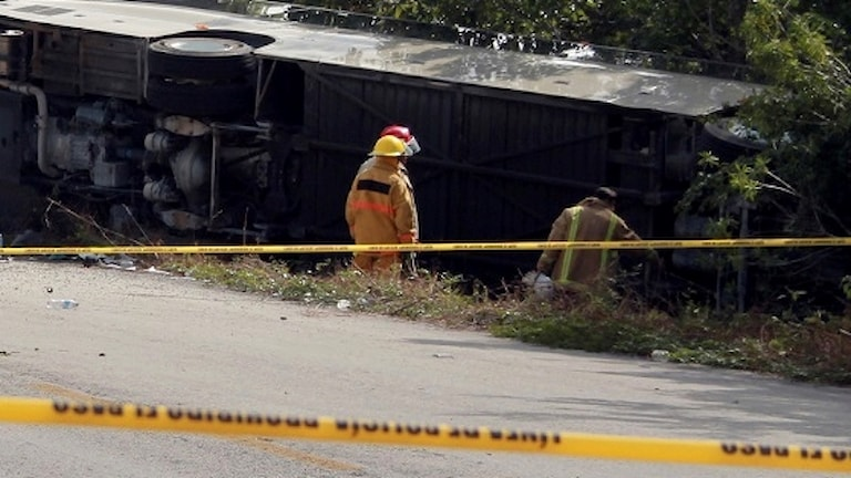 Bussolyckan i Mexiko.