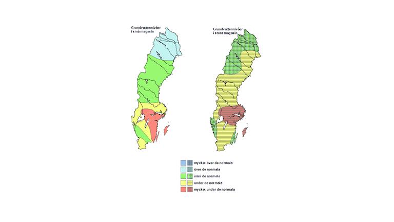 Karta över vattenbrist.