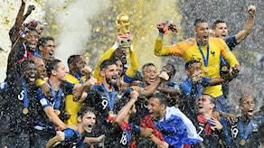 Frankrikes lag firar segern
