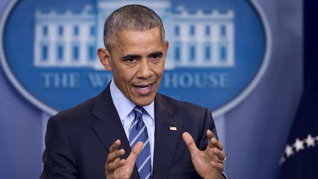 Obama gick ut hårt mot Ryssland.