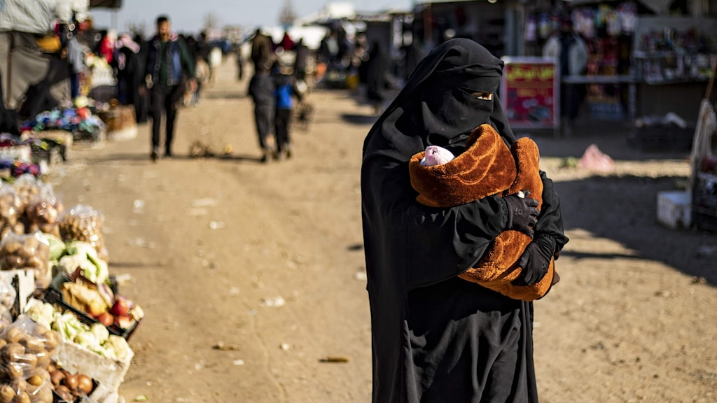 Kvinna i lägret al-Hol