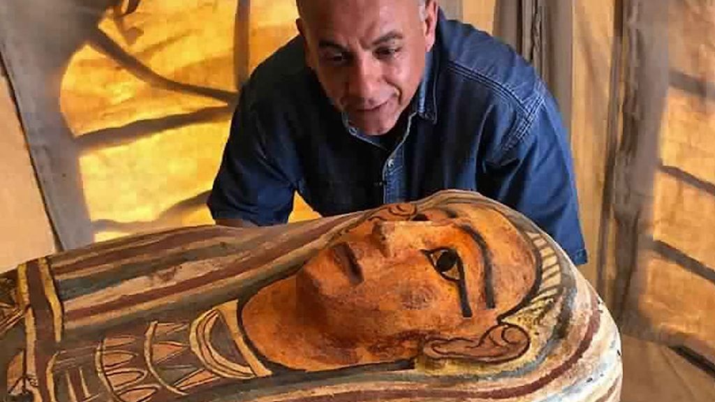 Det arkeologiska fyndet i Egypten.