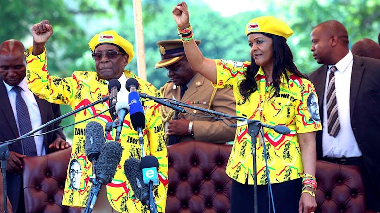 Robert och Grace Mugabe, Zimbabwe.
