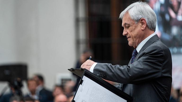 Chiles president Sebastian Piñera.