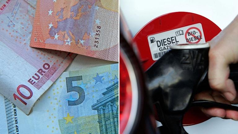 Eurosedlar och tanklock Diesel.